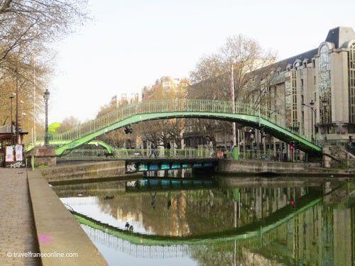 Metal footbridge on Canal Saint Martin