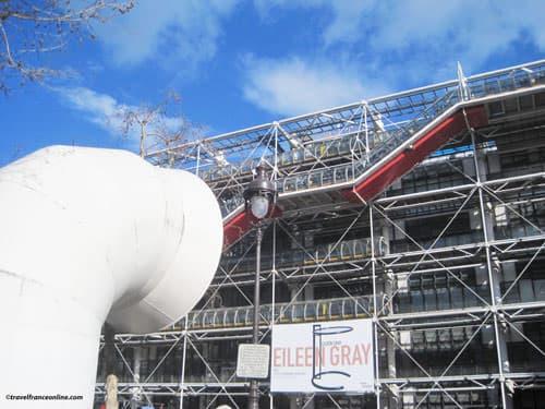 Centre Pompidou and ventilation chimney