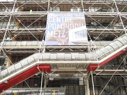 Main facade Centre Pompidou