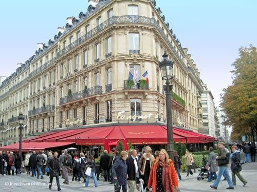 Fouquet's on Champs Elysees