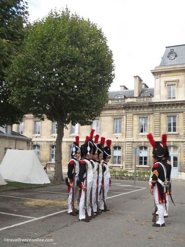 Historical re-enactment in the Ecole Militaire