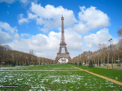 Eiffel Tower Seen from Champ de Mars