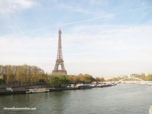 Eiffel Tower seen from the river Seine