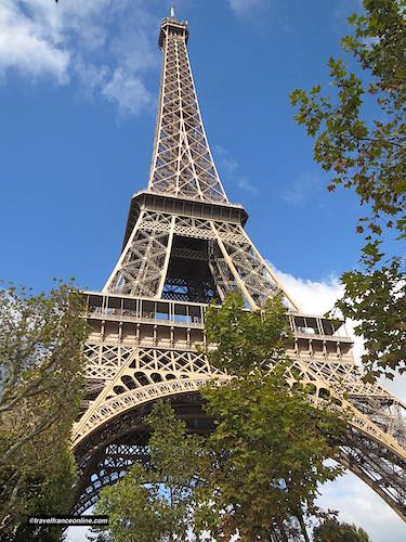 Eiffel Tower Seen from the gardens