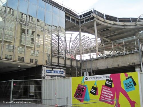 Les Halles durant demolition