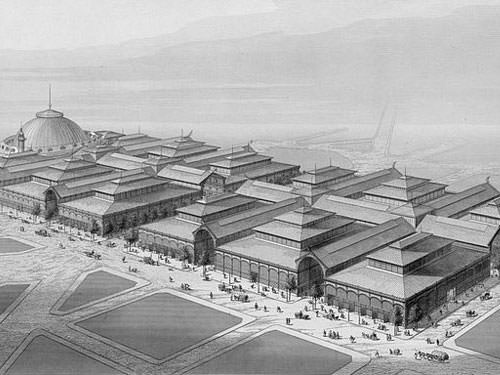 Les Halles de Baltard in 1863