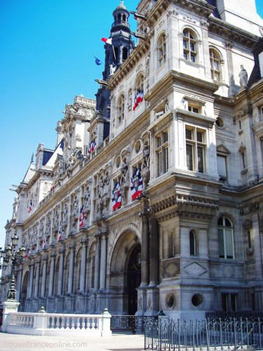 Hotel de Ville ready for Bastille Day celebrations