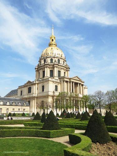 Hotel des Invalides - Dome Church seen from the gardens