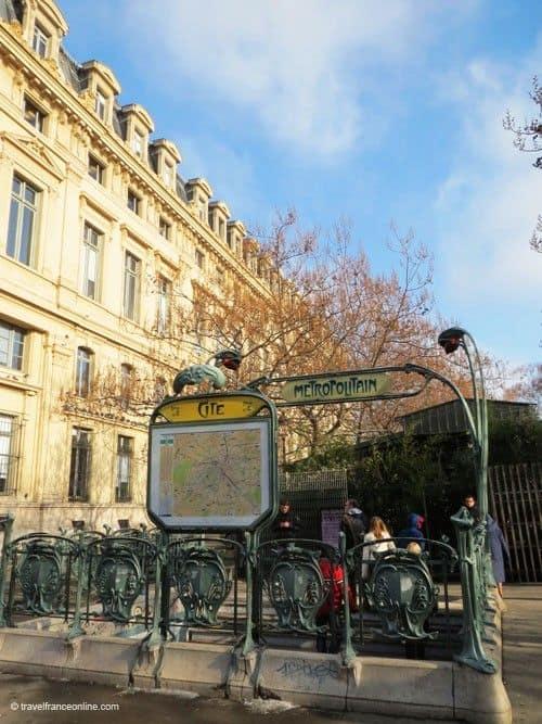 Ile de la Cite - Metro Cité on Place Lépine