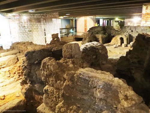 Ile de la Cite - Gallo-Roman vestiges in Archaeological Crypt Notre-Dame