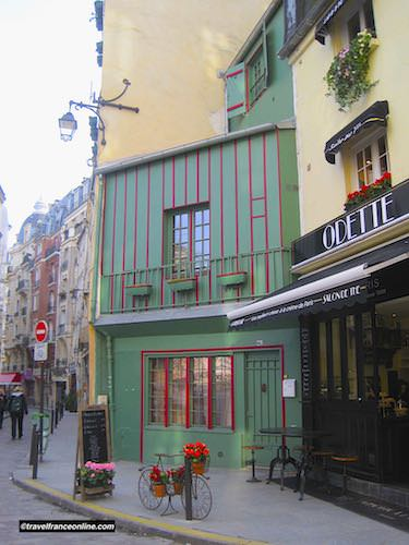 Old house in Rue Galante in Latin Quarter