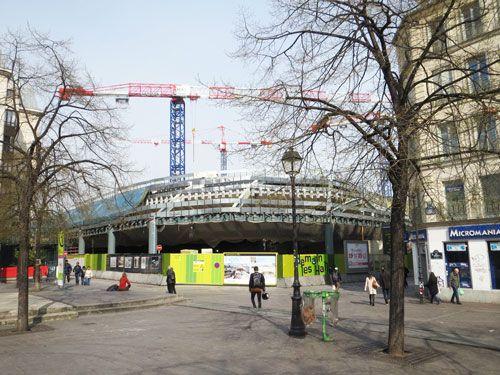 Les Halles under construction