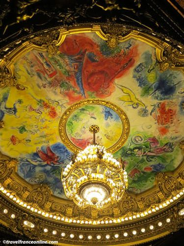 Opera Garnier - Theatre ceiling painted by Chagall