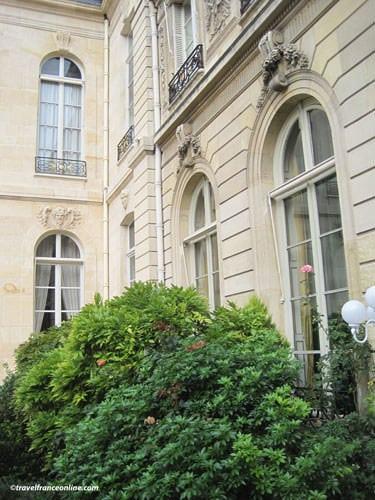 Palais Elysee - Facade overlooking the formal gardensal gardens