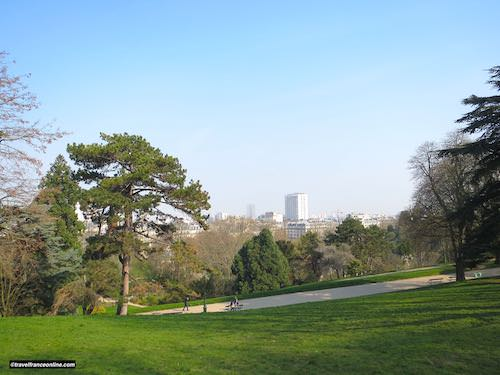Paris seen from the Buttes Chaumont