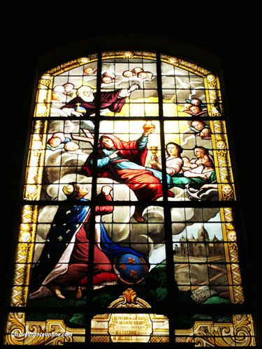 Saint Louis en l'Isle Church - Virgin with Child - Stained-glass window