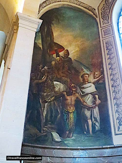 Saint Roch Church - St-Francois-Xavier baptising Indians by Chasseriau