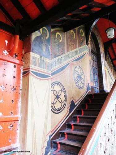 Saint Serge de Radonege - Murals in staircaseChurch -