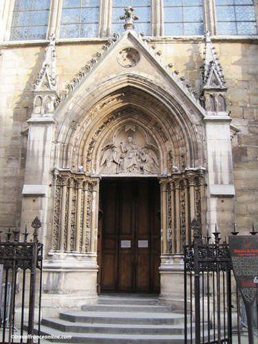 Saint Severin Church - Portal recovered from St-Pierre-aux-Boeufs Church