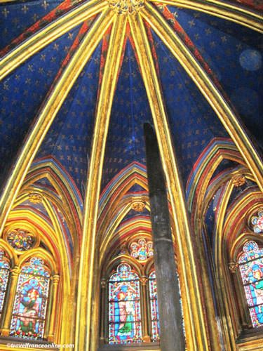Sainte Chapelle - Chapelle Basse - Vaulted ceiling