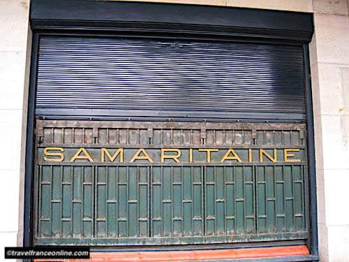 La Samaritaine - Metal curtain on facade overlooking the river