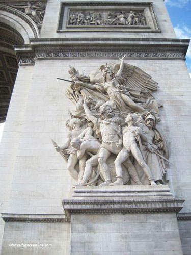 La Marseillaise on Arc de Triomphe