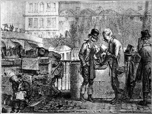 Bouquinistes in 1821