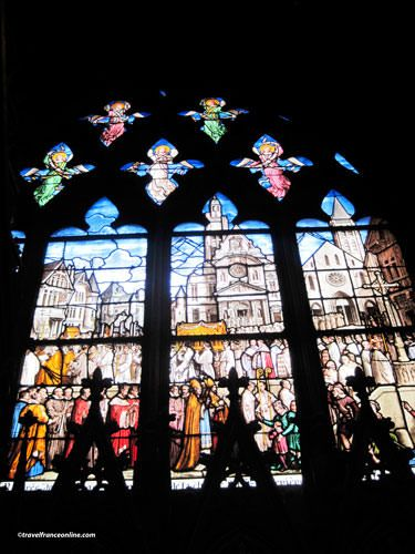 St Etienne du Mont Church - Stained-glass window