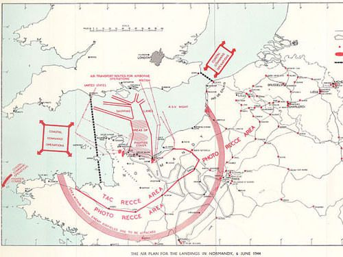Air plan for landings in June 1944 - Normandy invasion