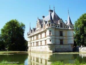 Chateau d'Azay-le-Rideau in Centre Val de Loire region