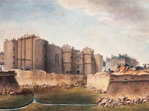 Demolition of the Bastille in July 1789 - Bastille day