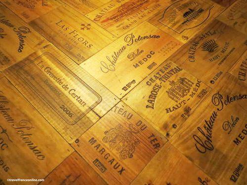 Bordeaux wines wooden boxes