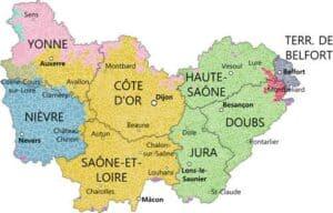 Bourgogne-Franche-Comté departments