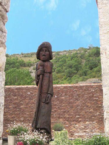 The Pilgrim in Sainte Eulalie d'Espagnac in the Cele Valley