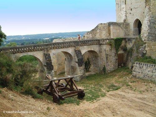 Chateau de Chinon - Former drawbridge