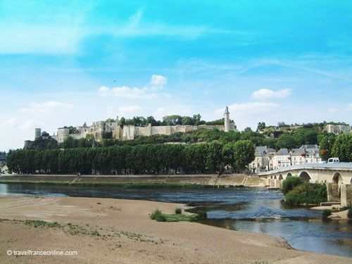 Chateau de Chinon seen from the south bank