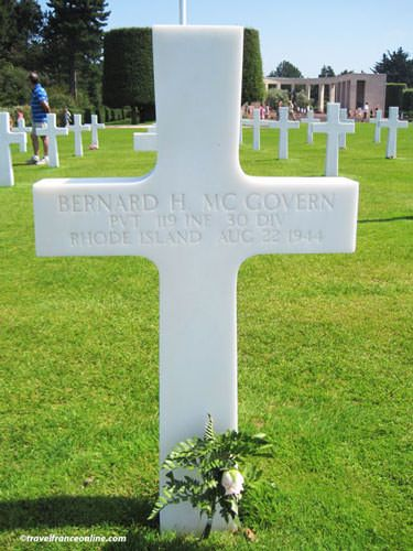 Colleville-sur-mer American Cemetery - One of the 9,387 graves