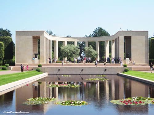 Colleville-sur-mer American Cemetery - Reflecting Pool and Memorial Colonnade