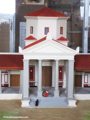 Corseul - Temple de Mars model