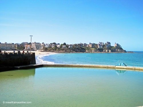 Dinard - Sea water pool on Plage de l'Ecluse