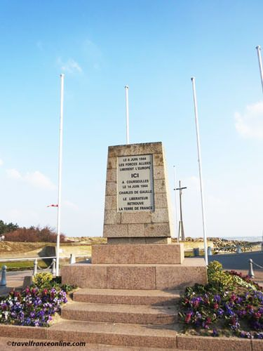 Juno Beach - Memorial to Gal de Gaulle in Corseulles-sur-mer