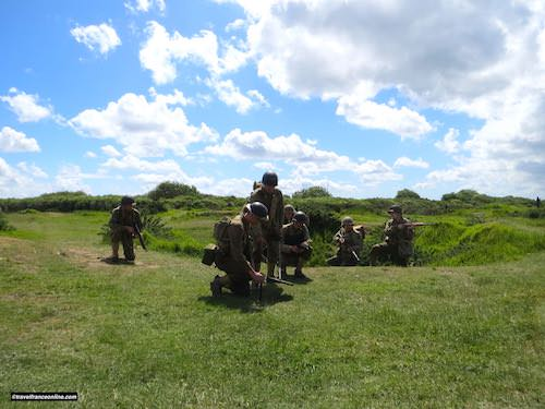 La Pointe du hoc - Soldiers re-enactment during D-Day 75th anniversary commemorations