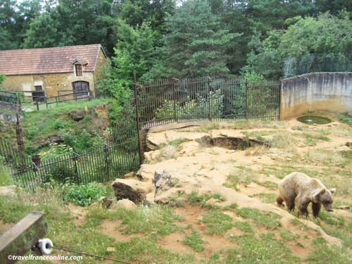 Former farm turned museum and bears enclosure at Le Regourdou
