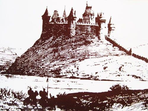 Lehon Castle as it once looked