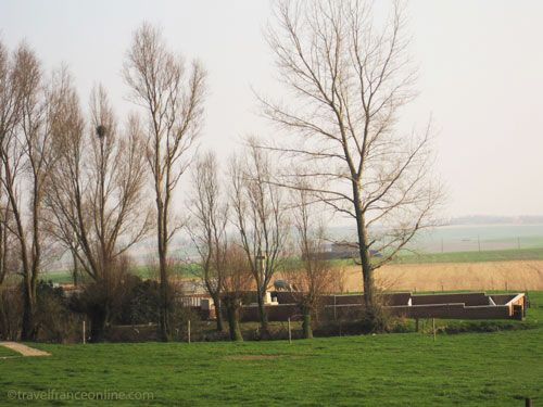 Lone Tree Cemetery near Spanbroekmolen Crater in Flanders
