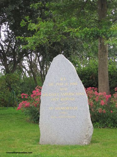 Marigny German Cemetery - American Memorial Stone