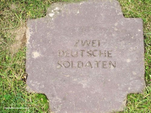 Marigny German Cemetery in La Chapelle en Juger - Two unknown German soldiers