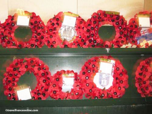 Menin Gate Memorial - Wreaths placed at the end of the Last Post Ceremony