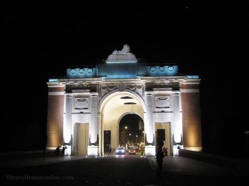 Menin Gate Memorial at nught