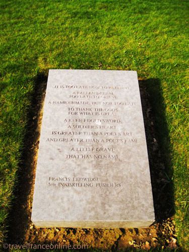 Messines Ridge - One of the granite slabs inscribed with quotations and poems from Irish soldiers